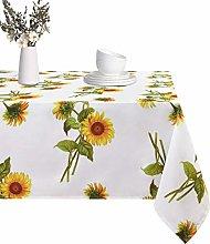 ASPMIZ Tablecloth Sunflower Tablecloth Yellow