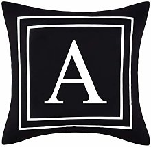 ASPMIZ Throw Pillow Covers English Alphabet A