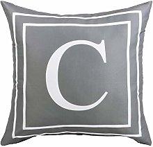 ASPMIZ Throw Pillow Covers English Alphabet C