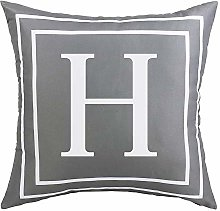 ASPMIZ Throw Pillow Covers English Alphabet H