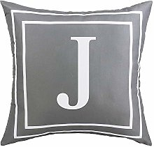 ASPMIZ Throw Pillow Covers English Alphabet J