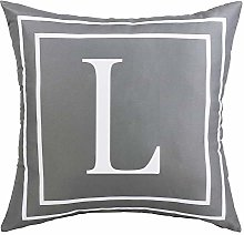 ASPMIZ Throw Pillow Covers English Alphabet L