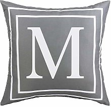ASPMIZ Throw Pillow Covers English Alphabet M