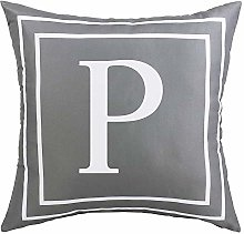 ASPMIZ Throw Pillow Covers English Alphabet P