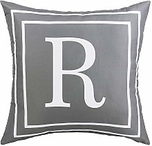 ASPMIZ Throw Pillow Covers English Alphabet R