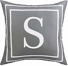 ASPMIZ Throw Pillow Covers English Alphabet S