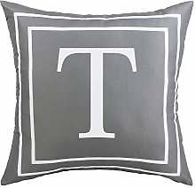 ASPMIZ Throw Pillow Covers English Alphabet T