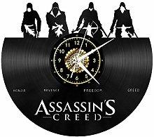 Assassin's Creed Black Vinyl Record Wall Clock