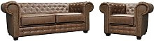 Astor Chesterfield Style Sofa Set 3+2 Seater