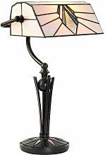 Astoria bank lamp, glass and metal
