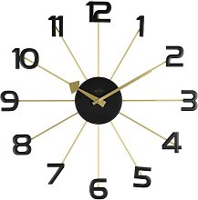 Astraea 49cm Gold/Black Spoke Wall Clock Acctim