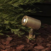 Astro Jura Spike Spot ground spike light, brass