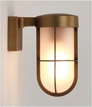 Astro Lighting - Brass Frosted Glass Cabin Wall