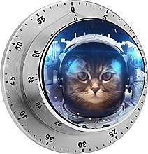 Astronaut Animals Cats Kitchen,Oven Timer, No