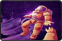 Astronaut Galaxy Doormat Rug Easy to Clean Non