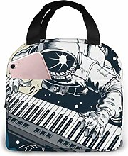Astronaut Playing Piano Synthesizer Space People