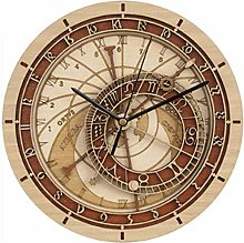 Astronomical Wood Wall Clocks 12 Inch Silence