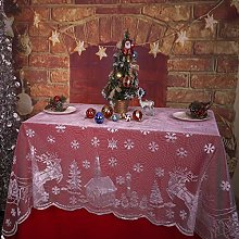 Asunflower Christmas Lace Tablecloth Christmas