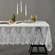 Asunflower Elegant White Lace Tablecloth for