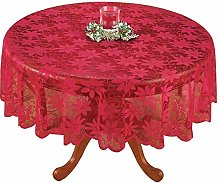 Asunflower Red Lace Tablecloth Holiday Party