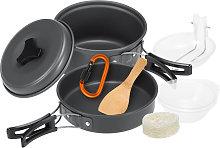 Asupermall - 10pcs Camping Cookware Mess Kit
