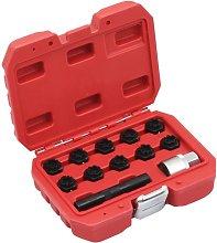 Asupermall - 12 Piece Rim Lock Socket Set for