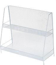 Asupermall - 2-Tier Basket Storage Organizer White