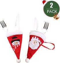 Asupermall - 2pcs Mini Santa Hat Christmas Hats
