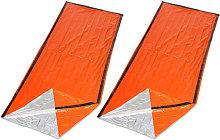 Asupermall - 2PCS Reusable Emergency Sleeping Bag