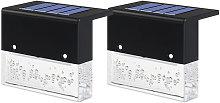 Asupermall - 2Pcs/Set Solar Powered Light Outdoor