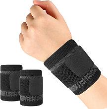 Asupermall - 2pcs Sports Wrist Bandage Wrist Brace
