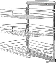 Asupermall - 3-Tier Pull-out Kitchen Wire Basket