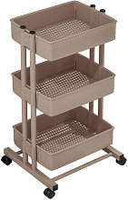 Asupermall - 3 Tier Rolling Storage Utility Cart
