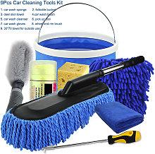 Asupermall - 8Pcs Car Cleaning Tools Kit, Car Wash