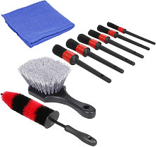 Asupermall - 8Pcs Car Cleaning Tools Kit, Wheel &