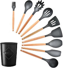 Asupermall - 9PCS Cooking Utensils with Storage