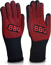 Asupermall - BBQ Gloves Heat Resistant Grill