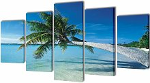 Asupermall - Canvas Wall Print Set Sand Beach with