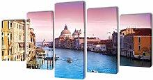 Asupermall - Canvas Wall Print Set Venice 200 x