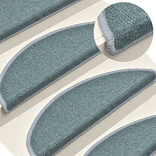 Asupermall - Carpet Stair Treads 15 pcs Blue