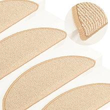 Asupermall - Carpet Stair Treads 15 pcs Cream
