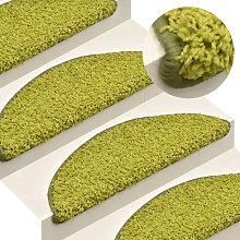 Asupermall - Carpet Stair Treads 15 pcs Green