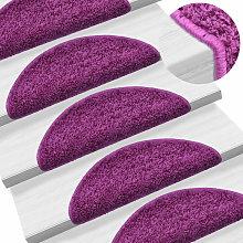Asupermall - Carpet Stair Treads 15 pcs Violet