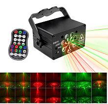 Asupermall - Disco Light Portable 8 Lens LED Stage