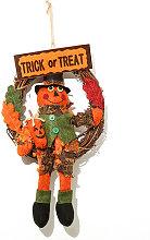 Asupermall - Halloween Wreath Halloween Door