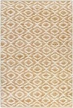 Asupermall - Hand-Woven Jute Area Rug Fabric
