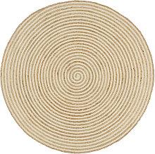 Asupermall - Handmade Rug Jute with Spiral Design