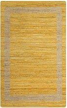 Asupermall - Handmade Rug Jute Yellow 120x180 cm