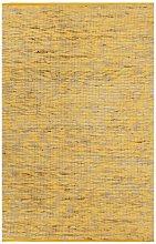 Asupermall - Handmade Rug Jute Yellow and Natural