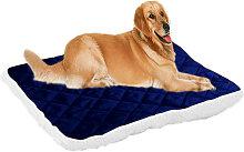 Asupermall - Kennel Pet Mat Dog Blanket Dark Blue,